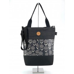 "3 IN 1 - Rucksacktasche ""Retro Black Flower"""